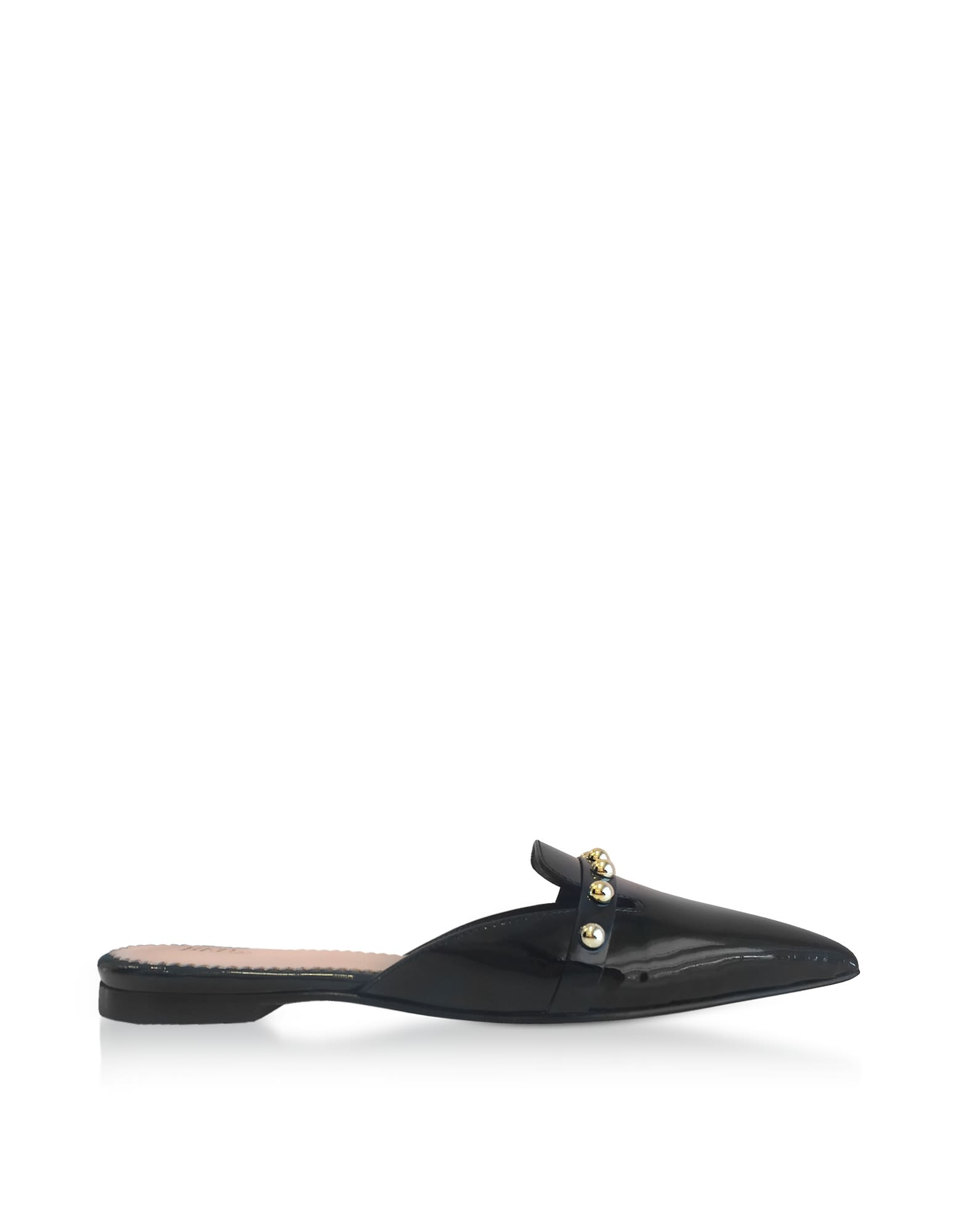 Red Valentino Black Patent Leather Pointy Mules