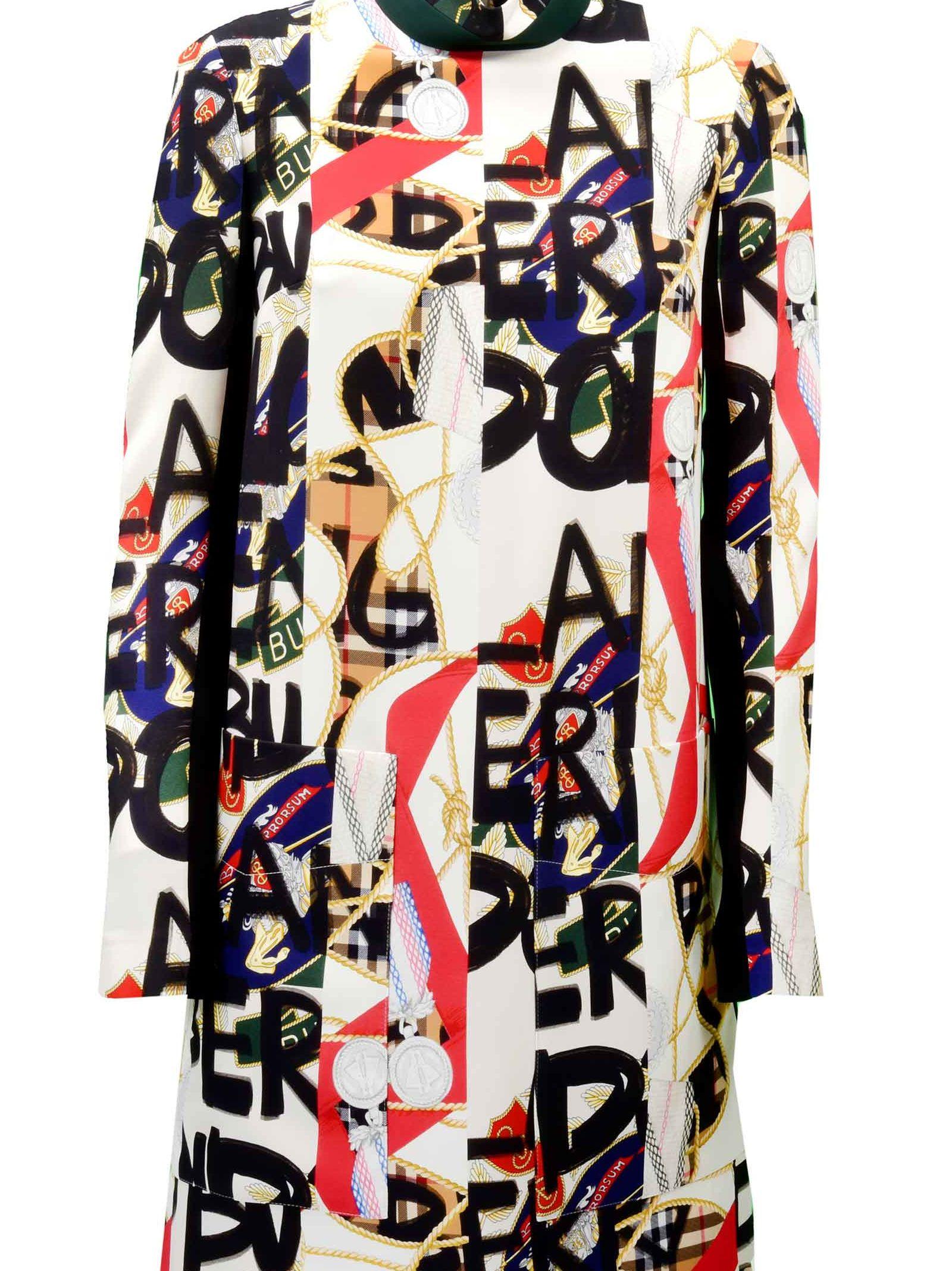 Burberry Abito Zoya Printed Mini Dress