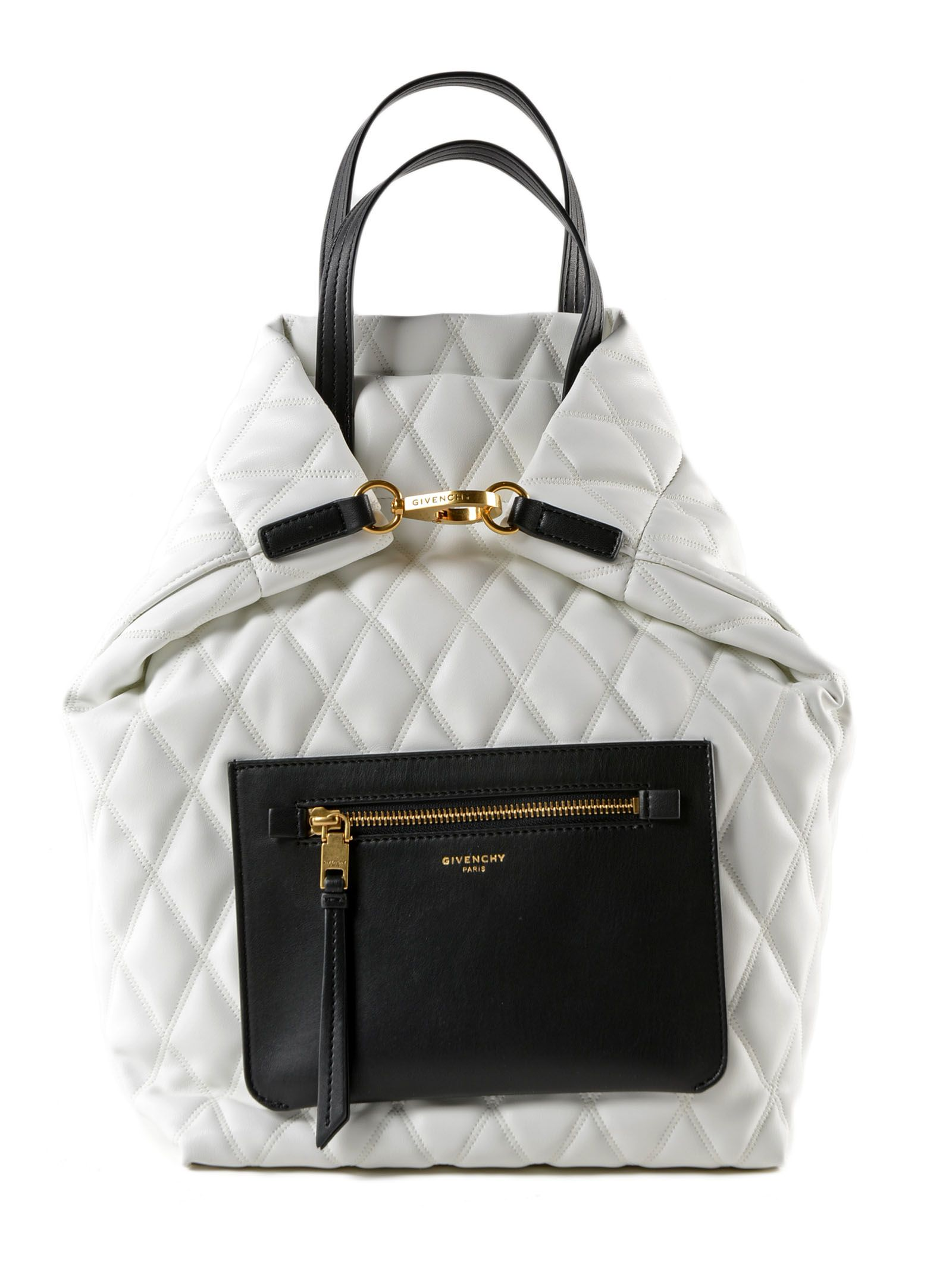 45eaf4c5efc7 Givenchy Duo Small Quilted Backpack In White