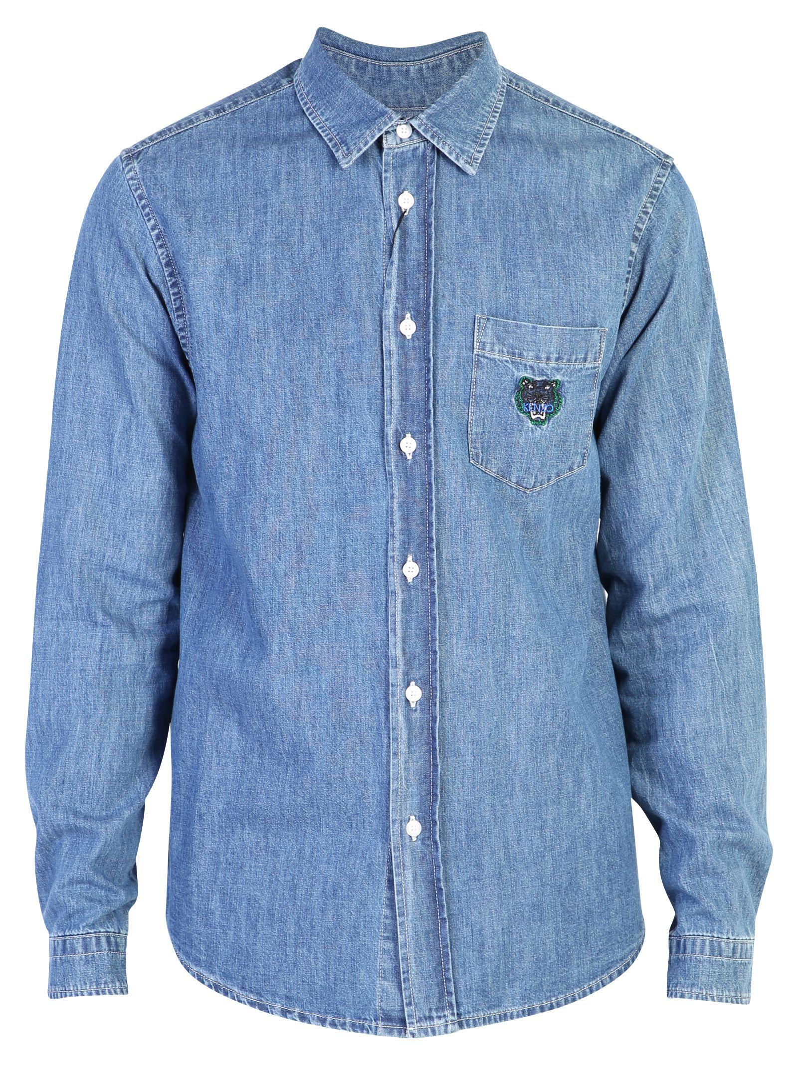 Kenzo Blue Branded Shirt