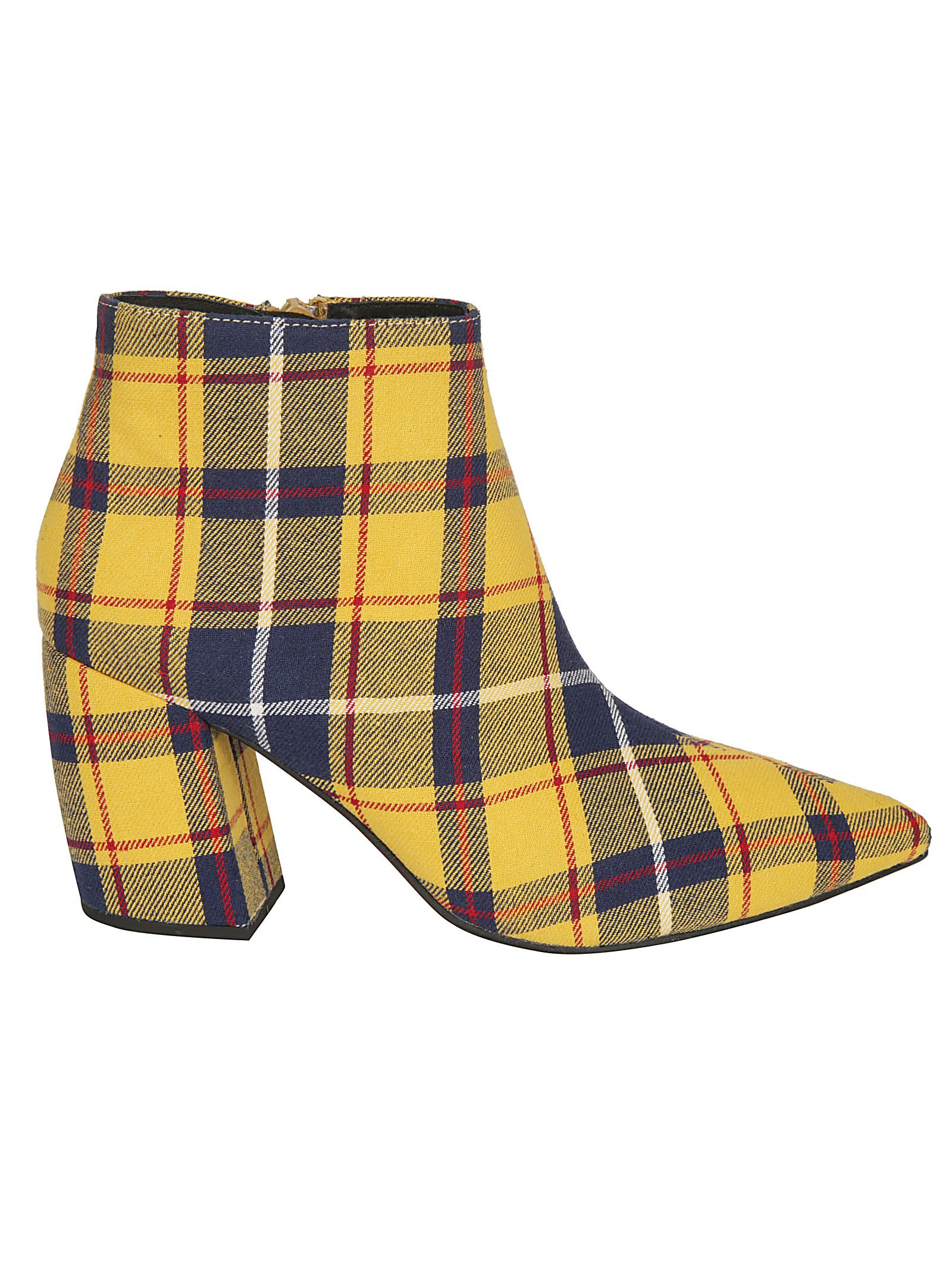 Jeffrey Campbell Checked Ankle Boots