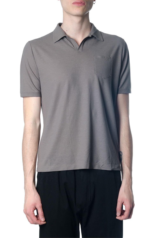 Zanone Cotton Polo Shirt In Mud Color