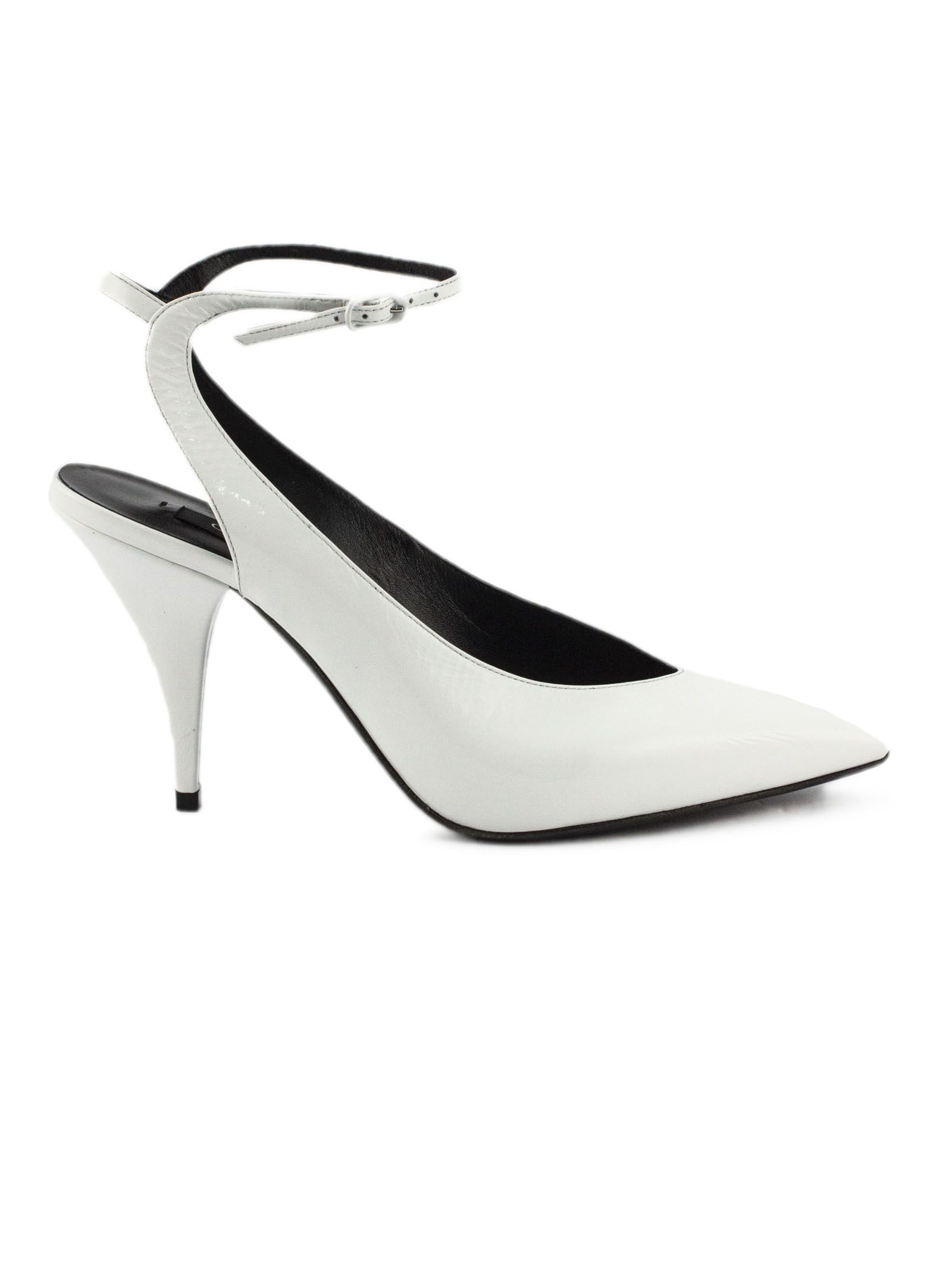 Casadei White High-heel Rainplack Pumps