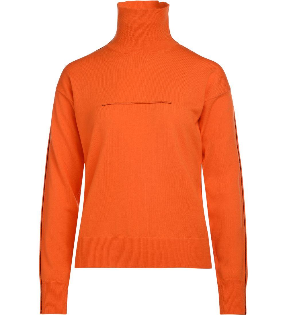 Mm6 Maison Margiela Orange Wool Sweater