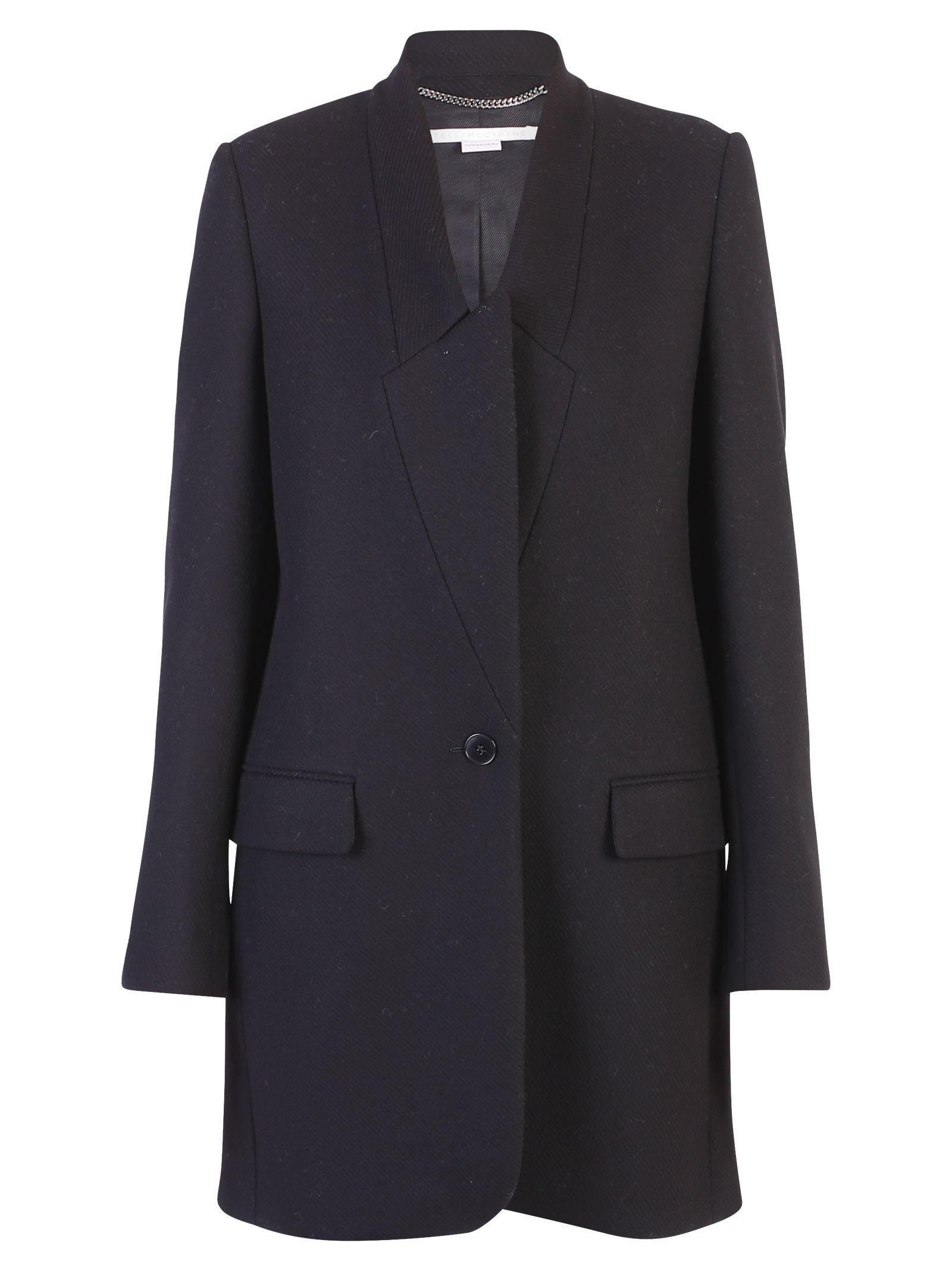 Stella McCartney Black Single Breasted Coat