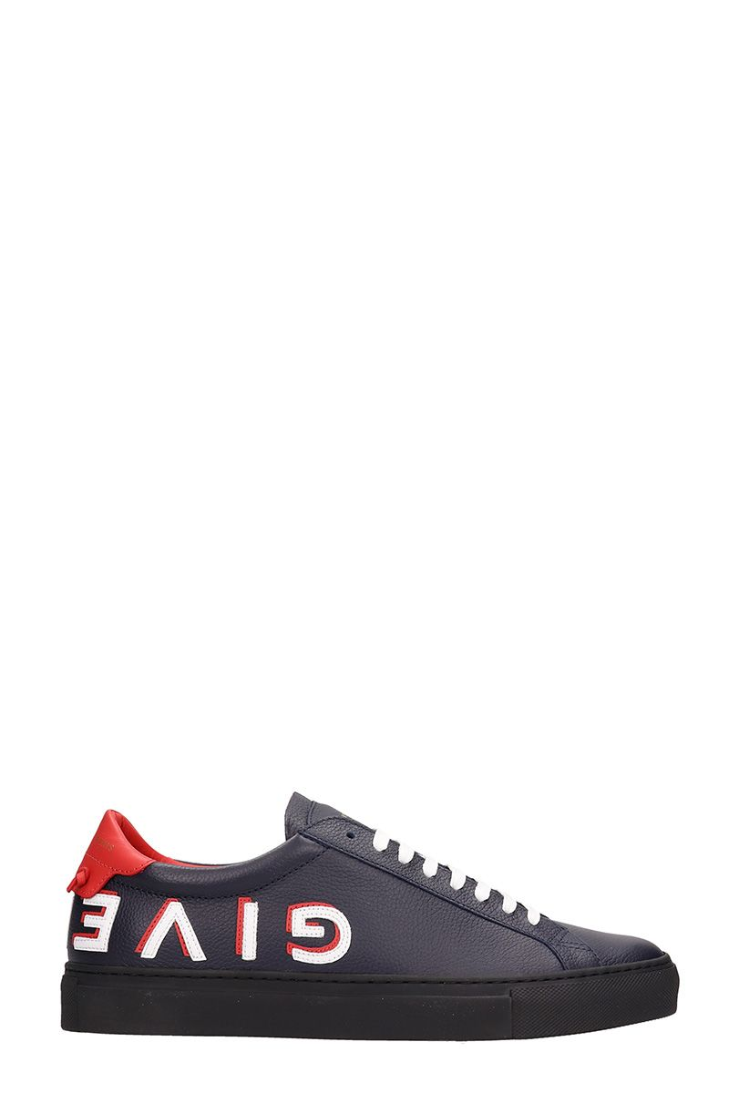Givenchy Blue Leather Sneakers