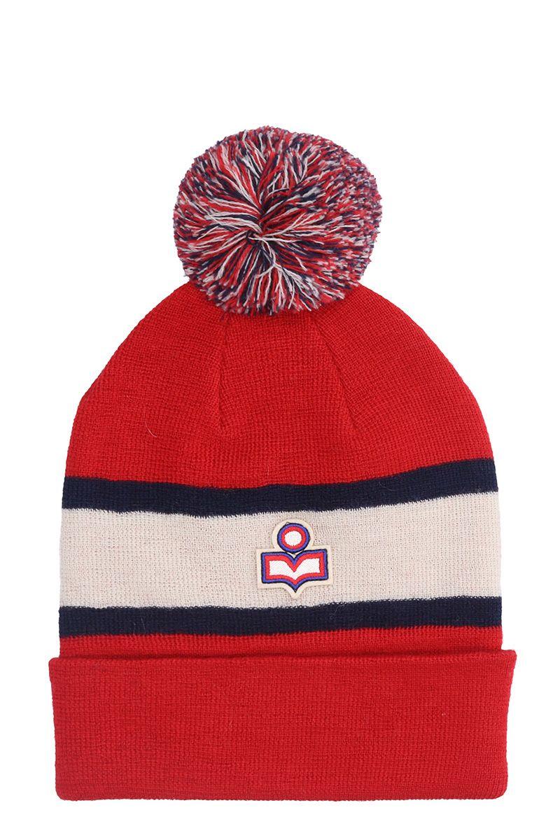 Isabel Marant Bonnet Halden Red Wool Hat