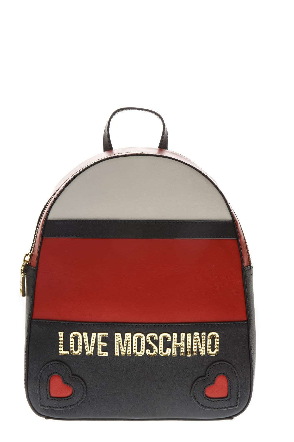 Love Moschino Multicolor Faux Leather Backpack