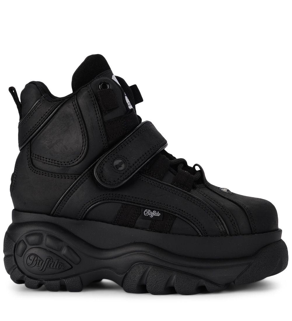 buffalo -  1348 Black Leather High Sneaker