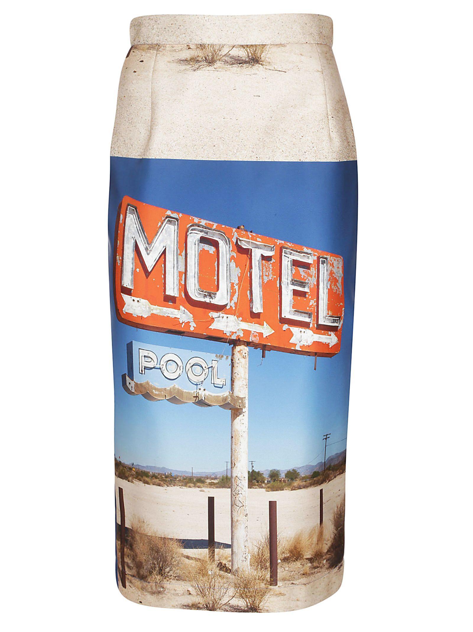 N.21 Motel Printed Pencil Skirt