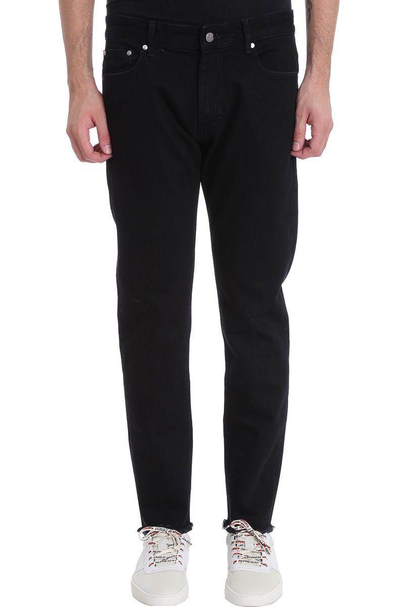 REPRESENT Relaxed Black Denim Jeans