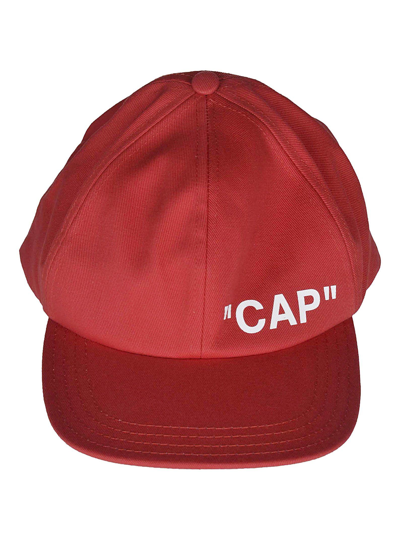 off-white -  Logo Print Baseball Cap