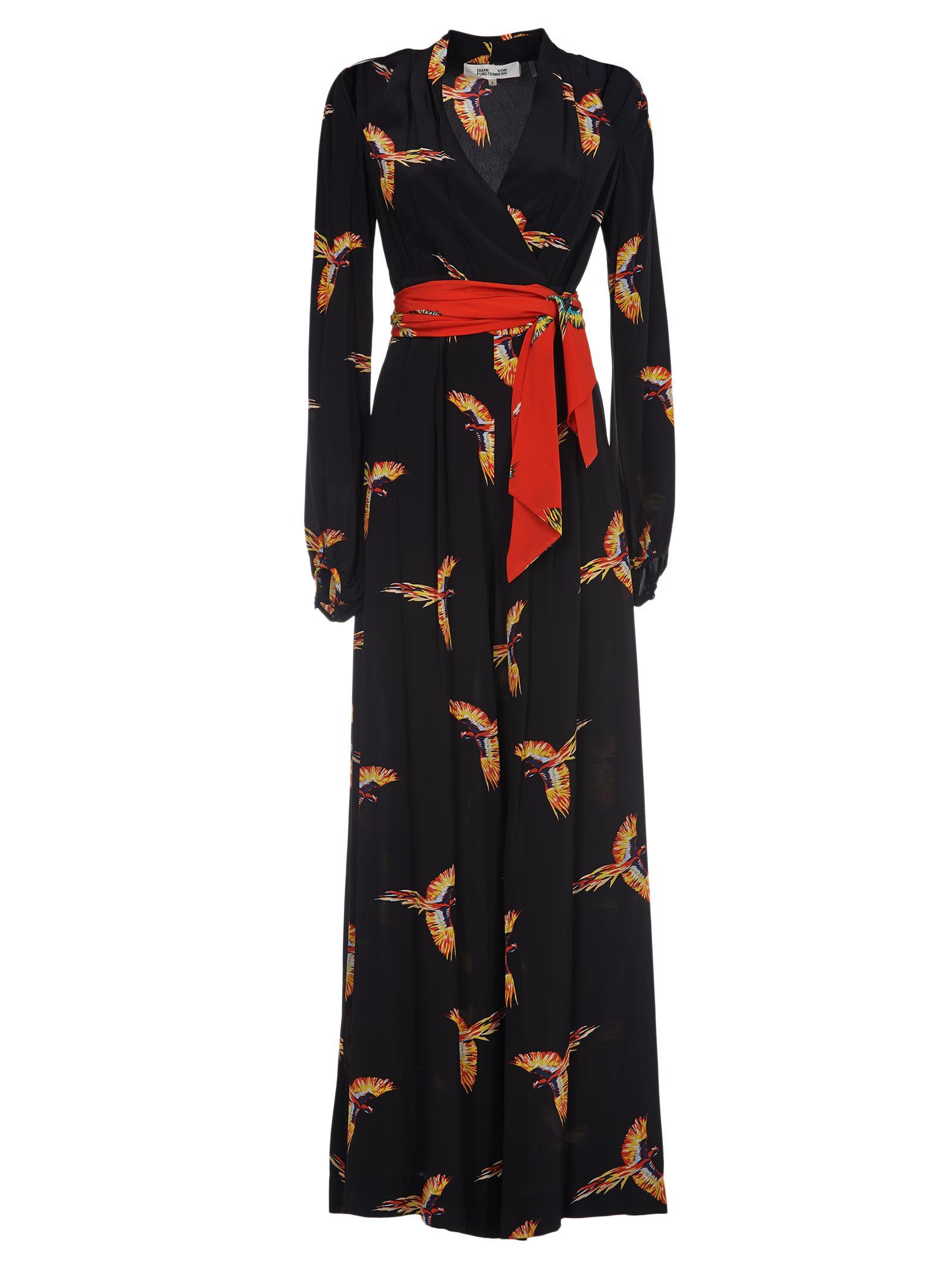 Diane Von Furstenberg Printed Wrap Jumpsuit