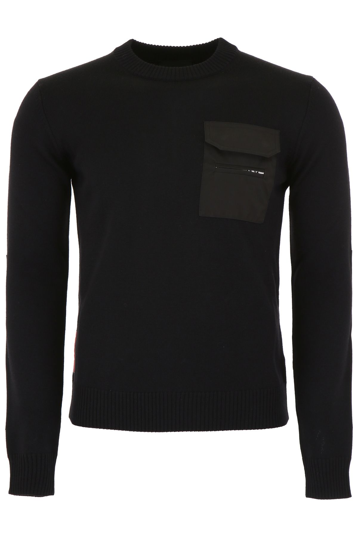 Prada Linea Rossa Wool And Nylon Pullover