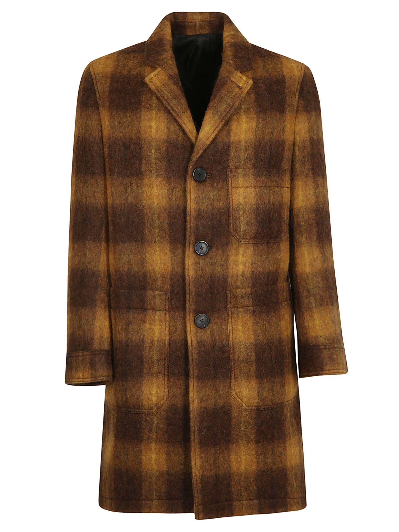 Ami Alexandre Mattiussi Checked Coat