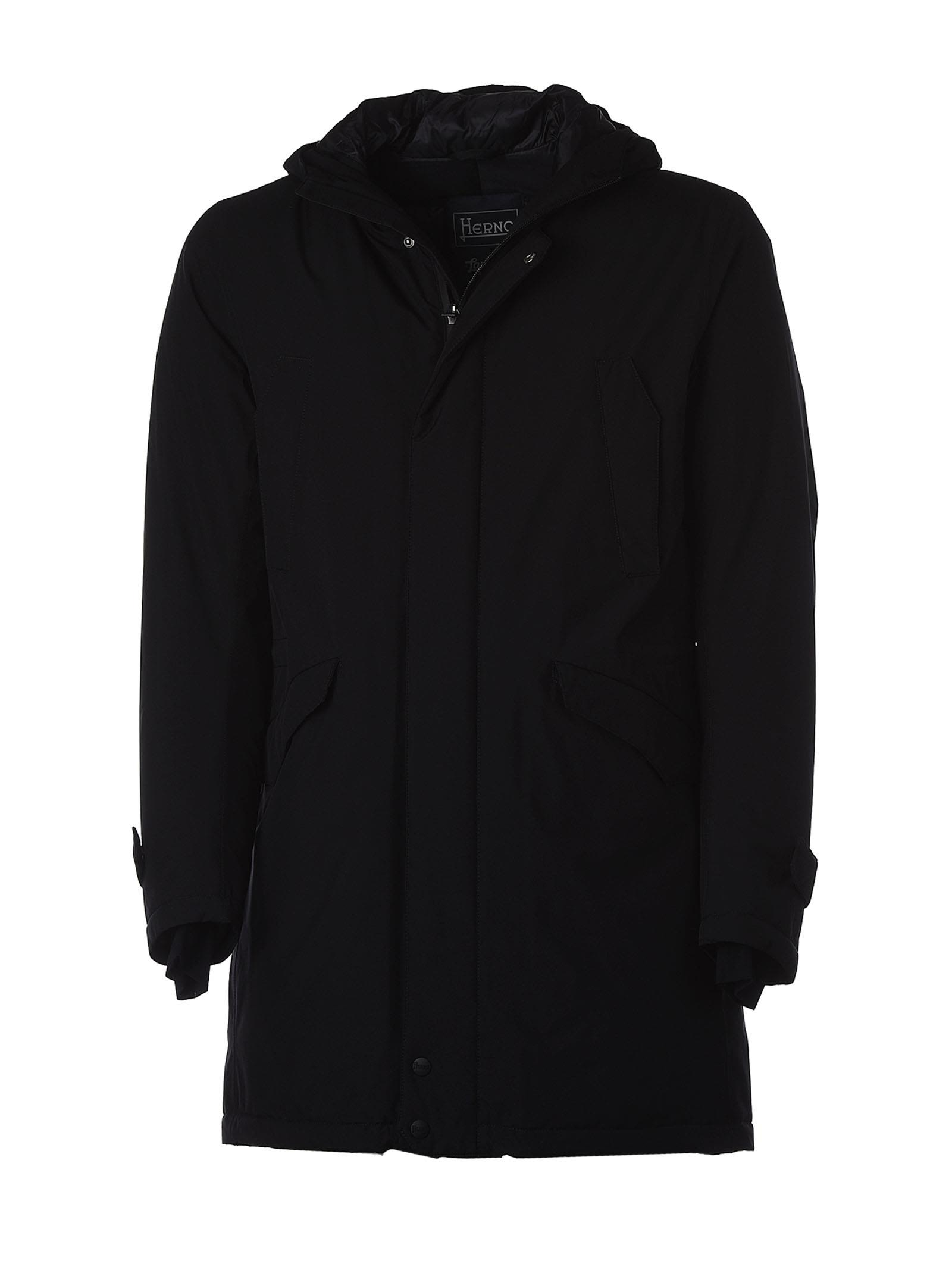 Herno Black Padded Parka With Hood