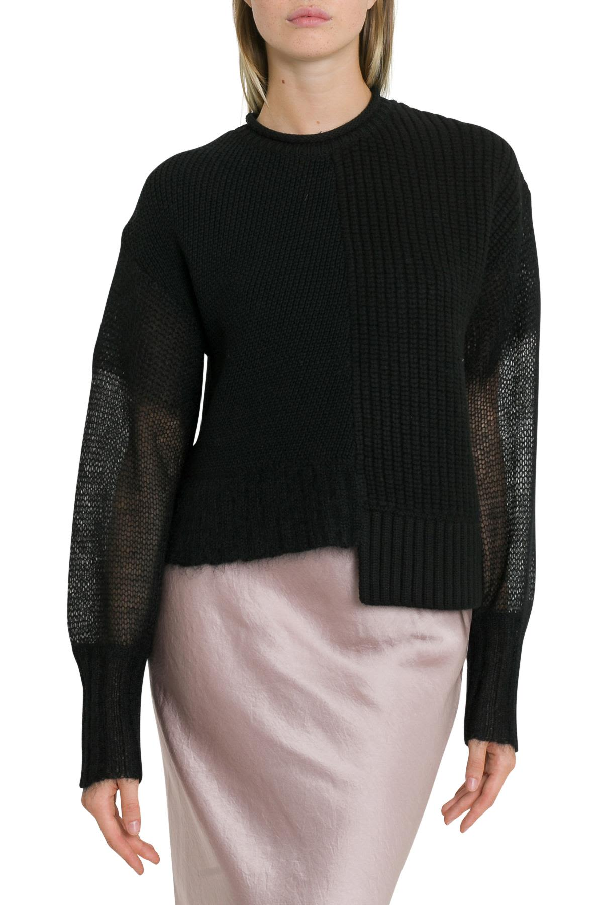 T by Alexander Wang Ribbed Asymmetrical Knitted Jjumper