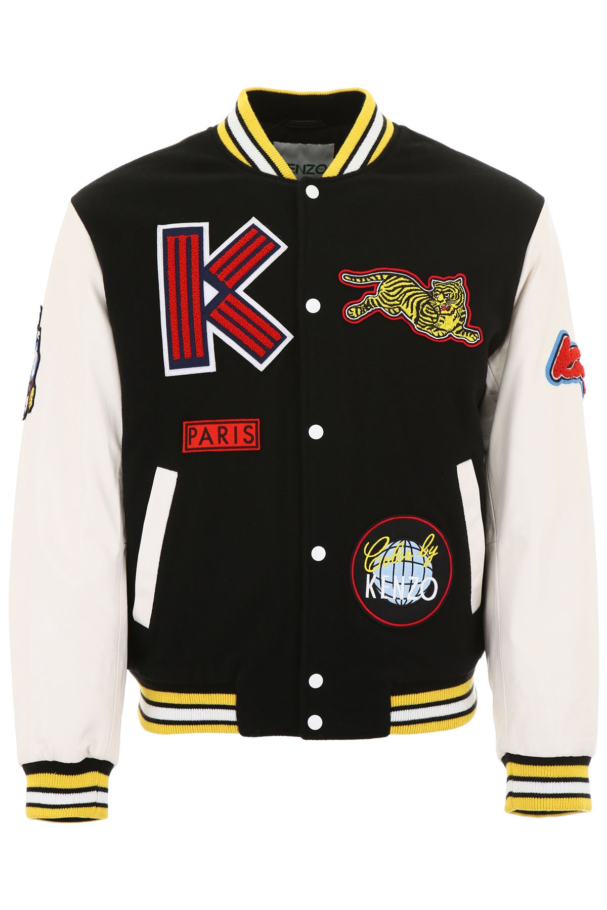 Kenzo Varsity Jacket With Patches