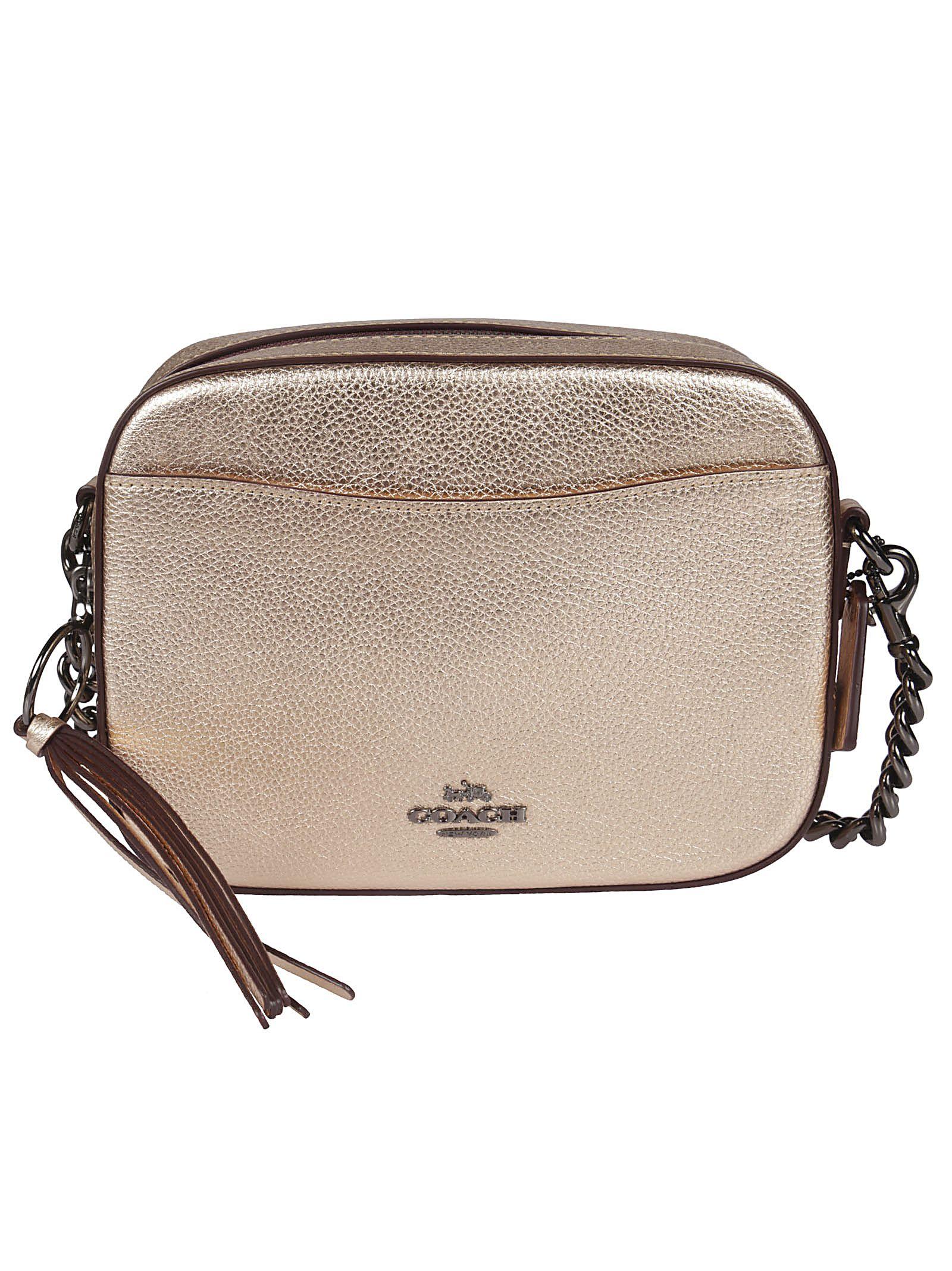 Coach Logo Plaque Shoulder Bag
