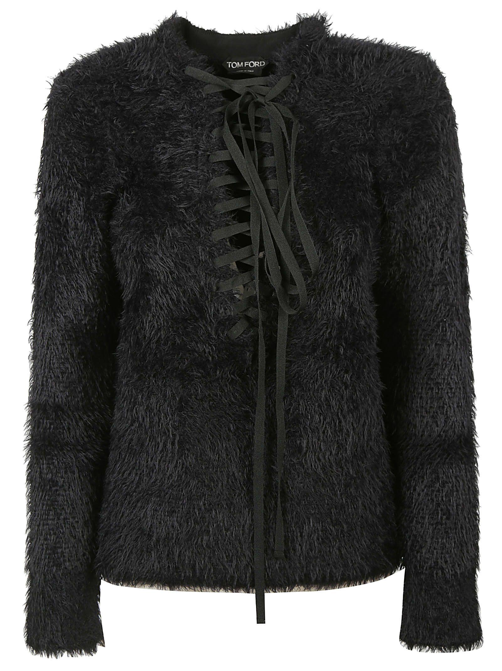 Tom Ford Drawstrings Fur Sweater