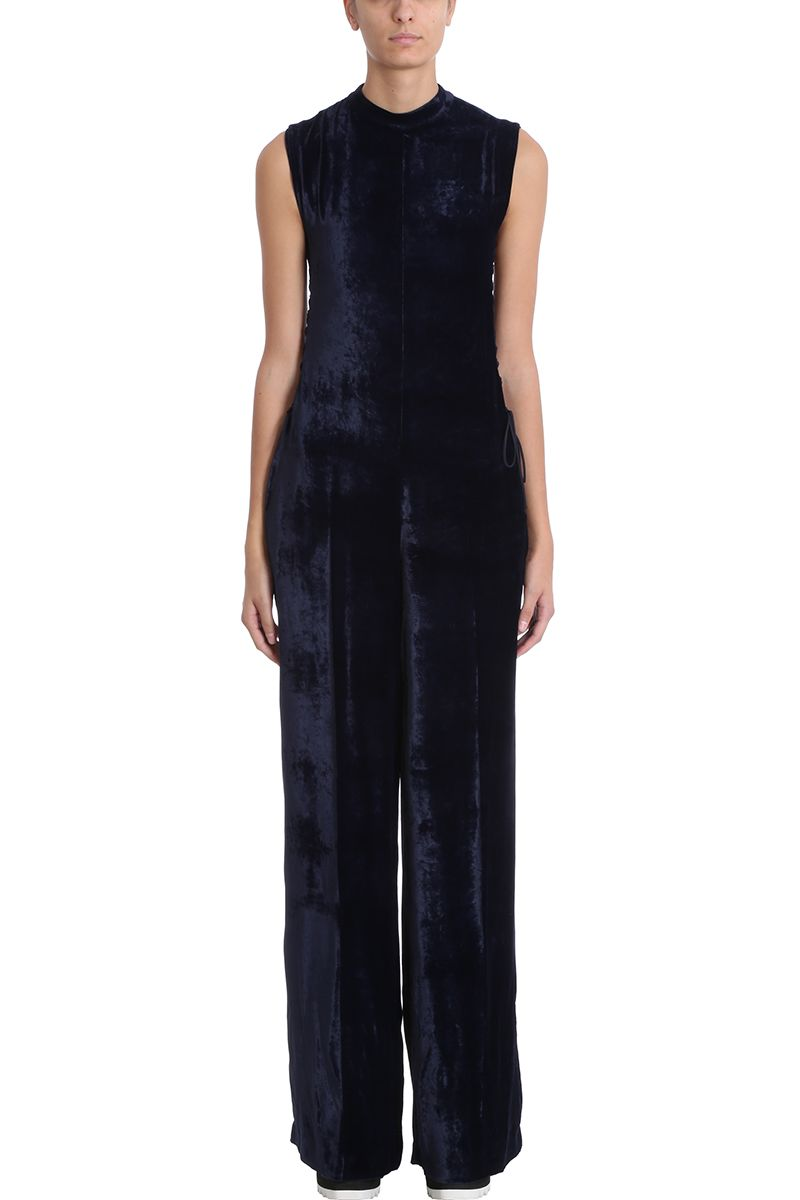 Stella McCartney Blue Velvet Jumpsuit