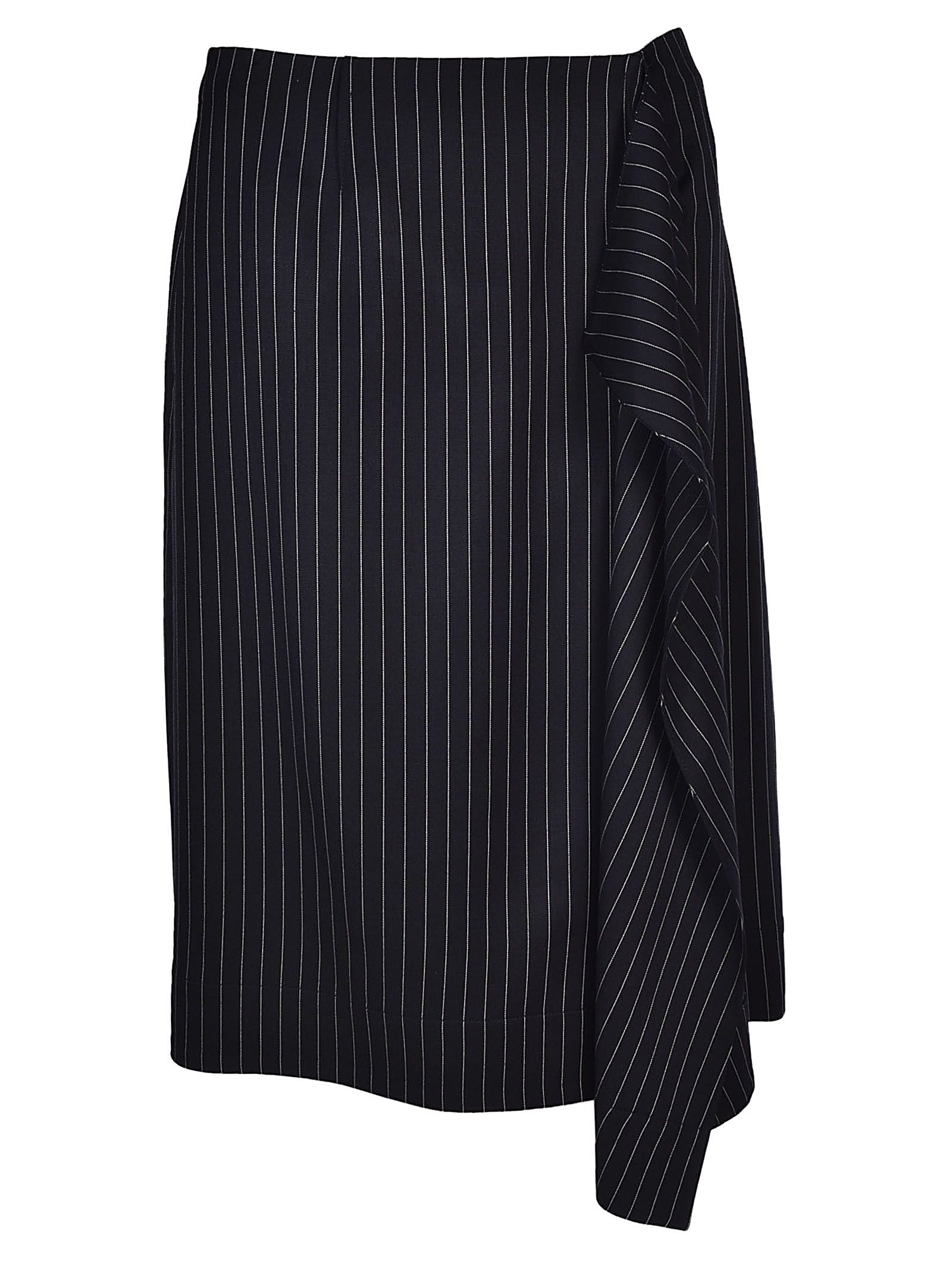 stella mccartney -  Striped Midi Skirt