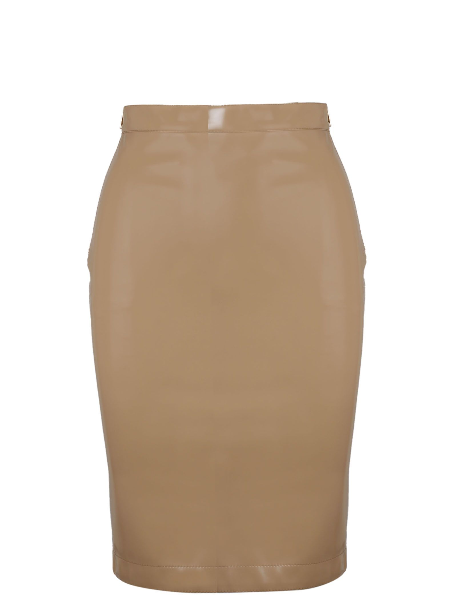 00011d26b Burberry Vinyl Pencil Skirt In Neutrals | ModeSens