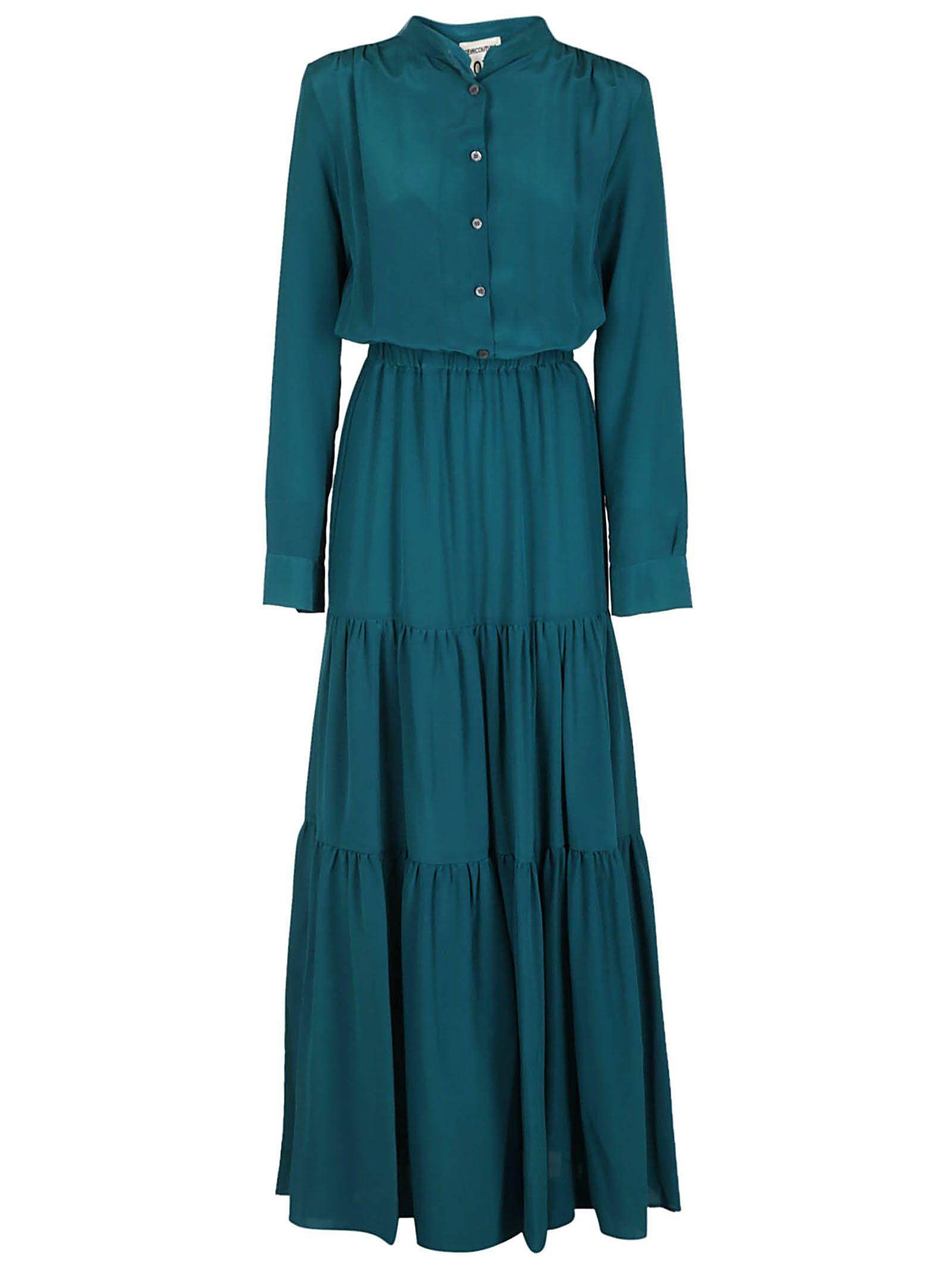 Semicouture Tiered Shirt Maxi Dress