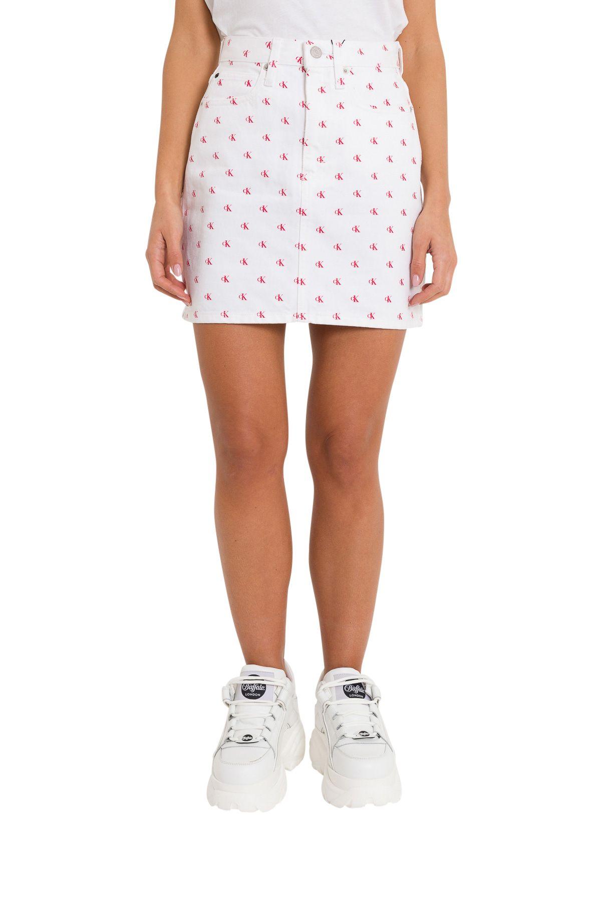Calvin Klein Jeans Denim Skirt All-over Ck