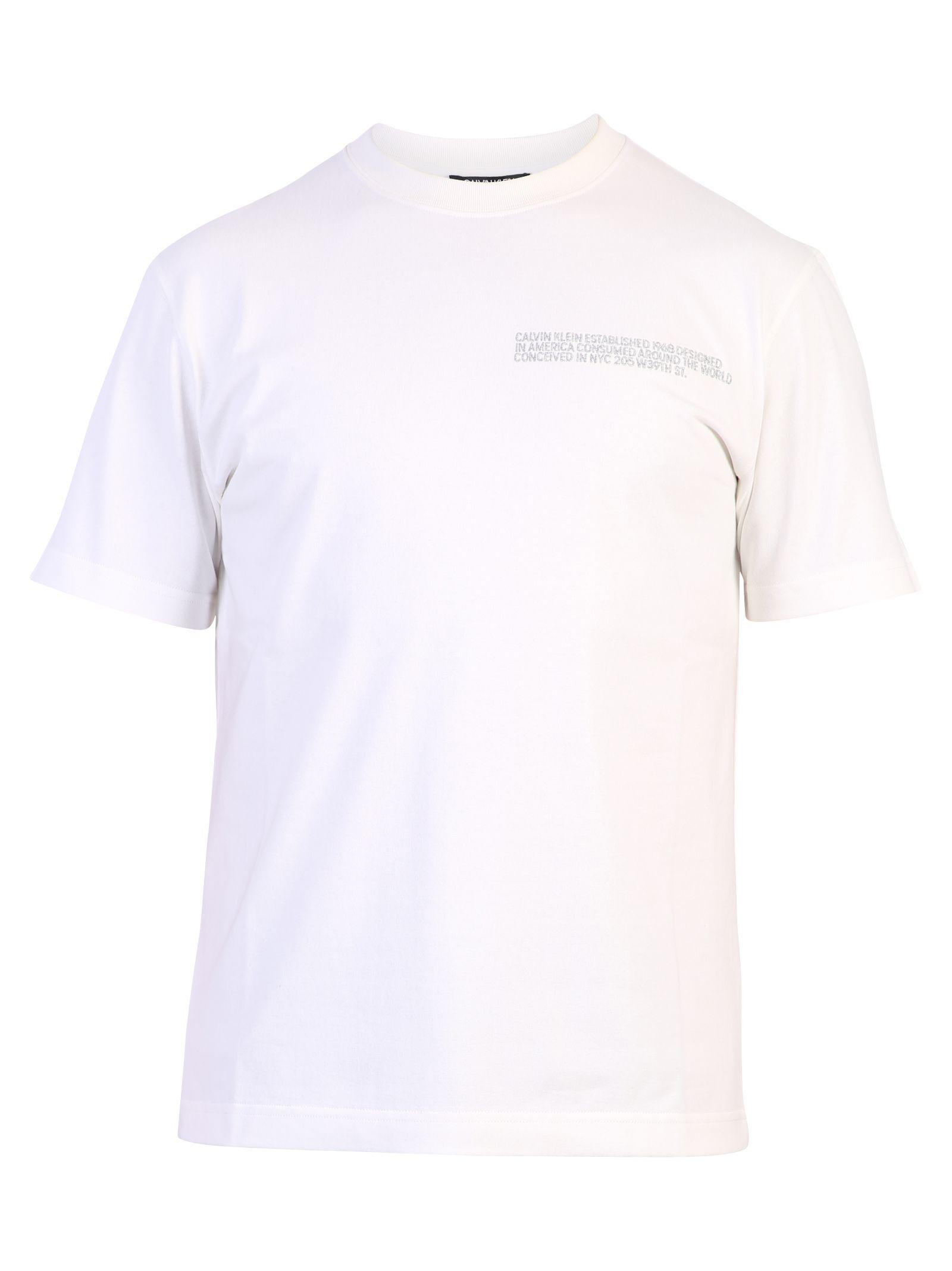 Calvin Klein White Branded T-shirt