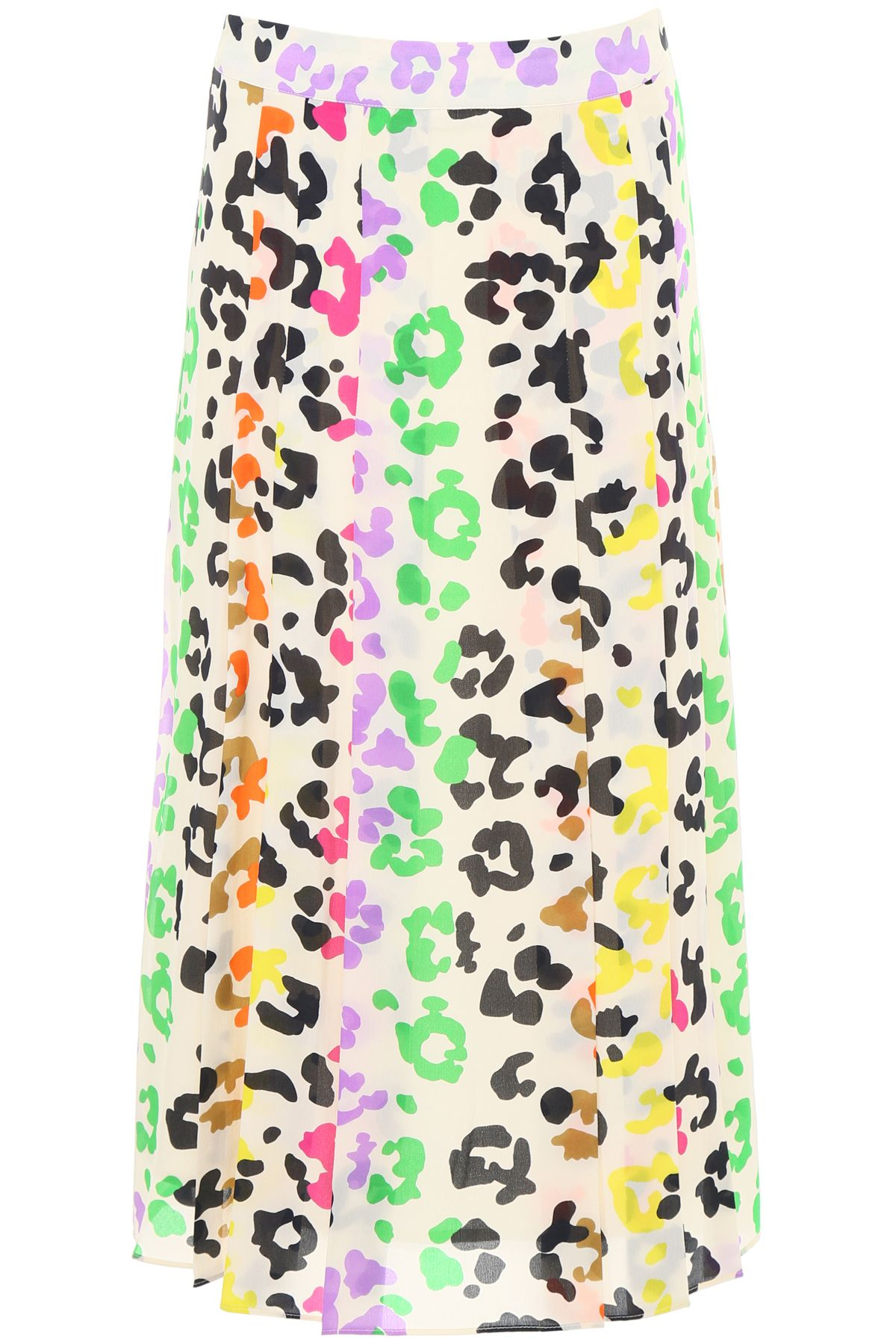Essentiel Multicolor Leopard Print Skirt