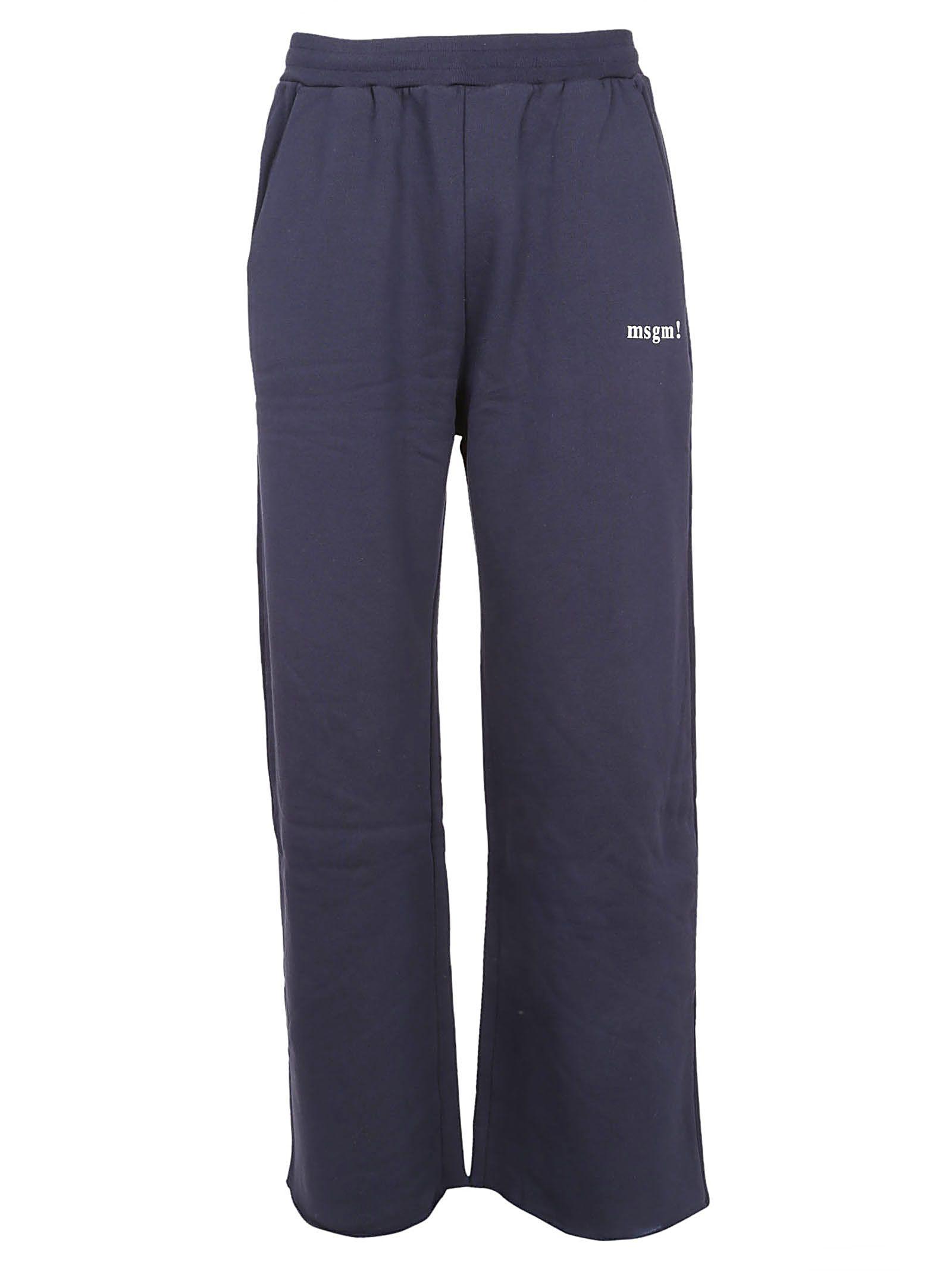 Msgm Wide Leg Track Pants