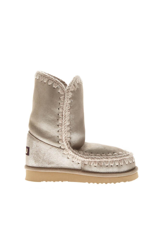 Mou Gray Shearling Boots