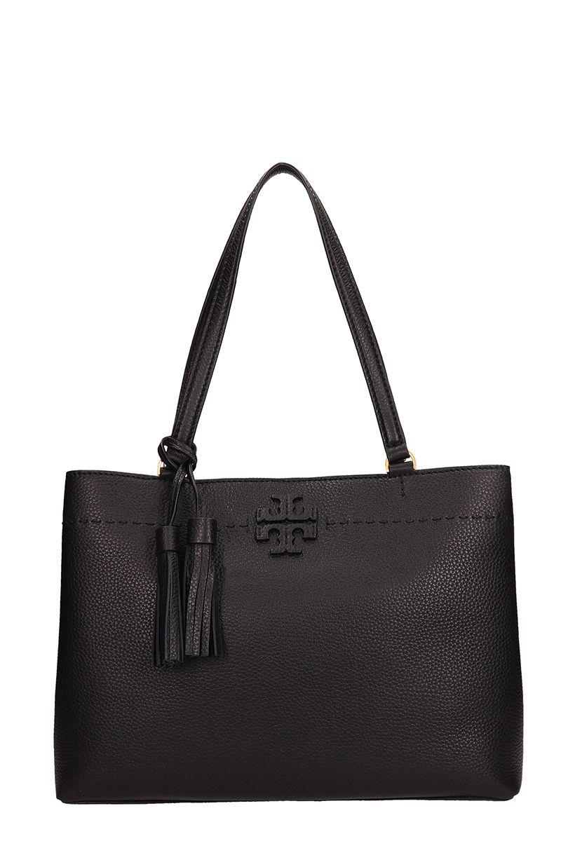 Tory Burch Black Leather Triple Mcgraw Bag