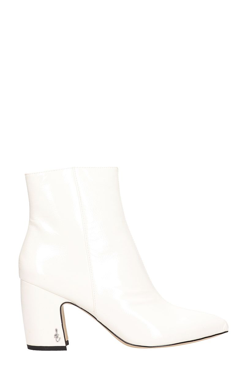 sam edelman -  Ankle Boot White Patent Leather Ankle Boots