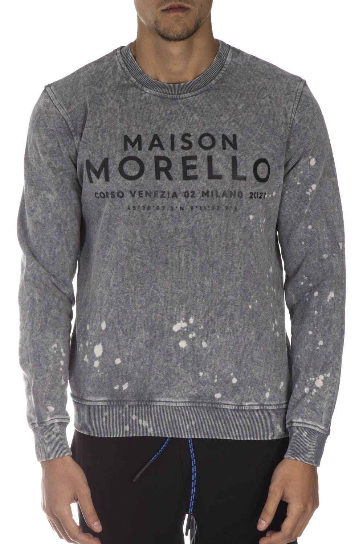 Frankie Morello Grey Cotton Sweatshirt