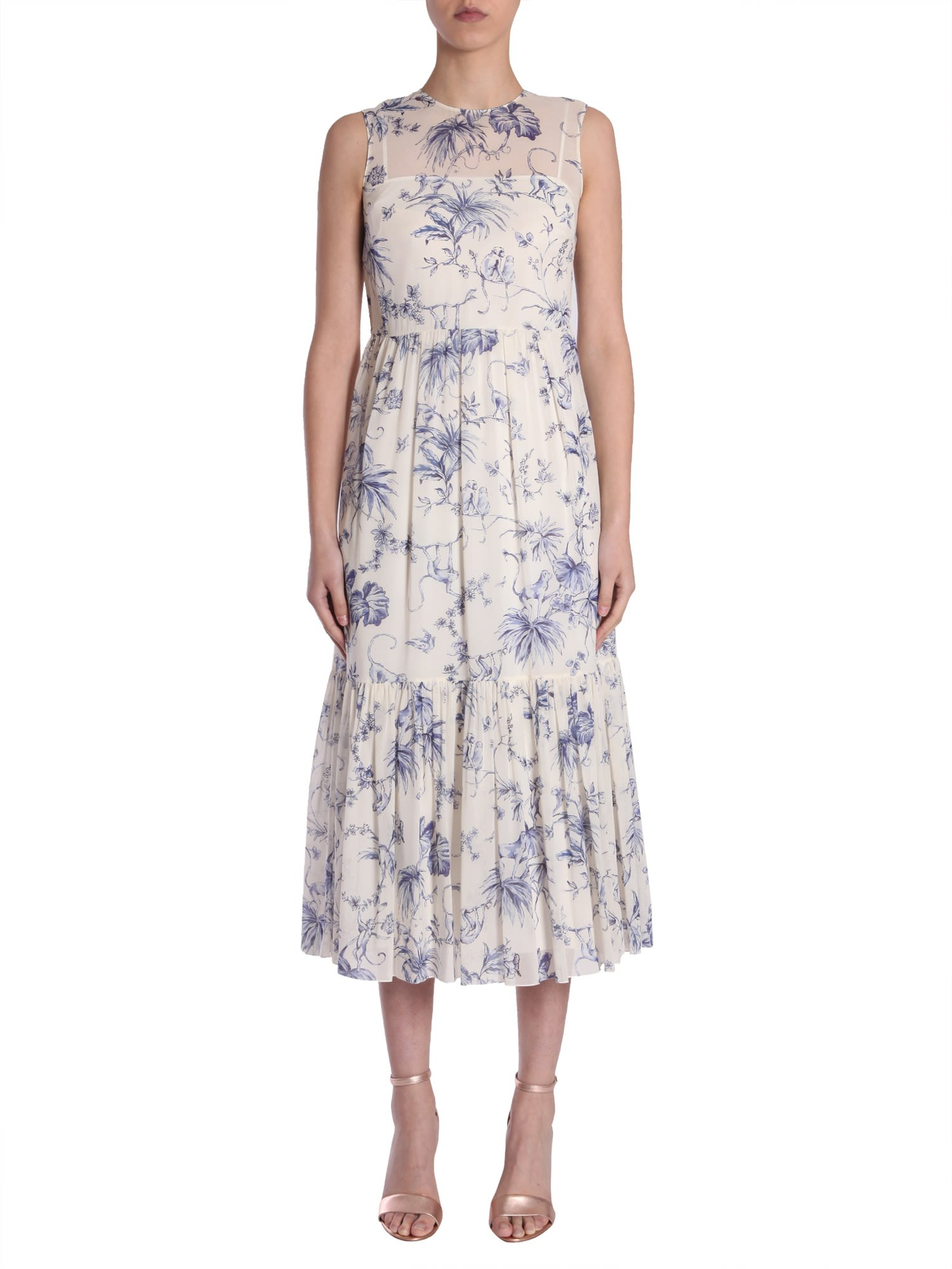 RED Valentino Silk Muslin Dress