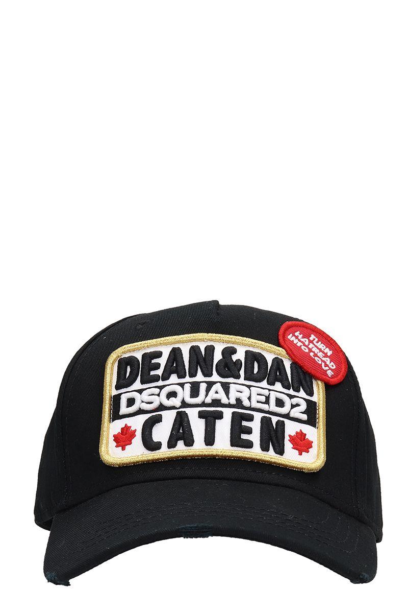 Dsquared2 Black Cotton Hat