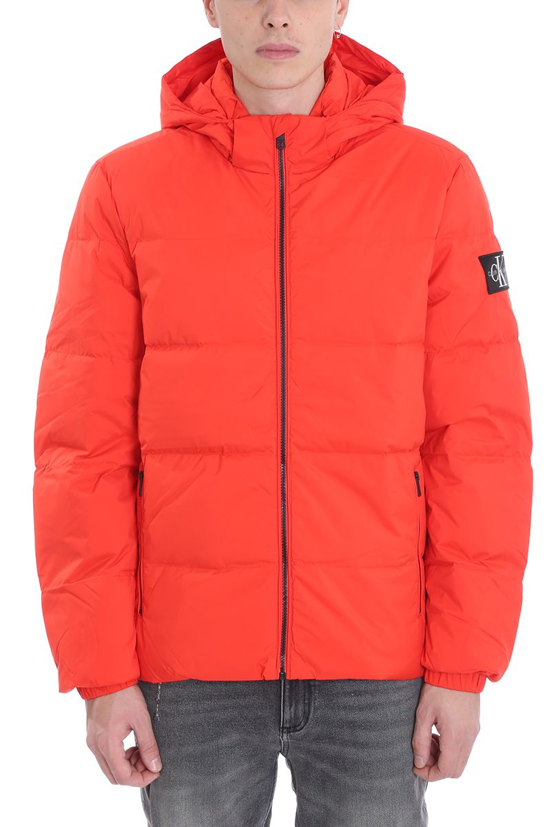 Calvin Klein Jeans Red Polyester Down Jacket