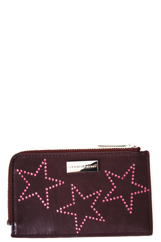 Stella McCartney Burgundy Faux Lerather Wallet With Stars