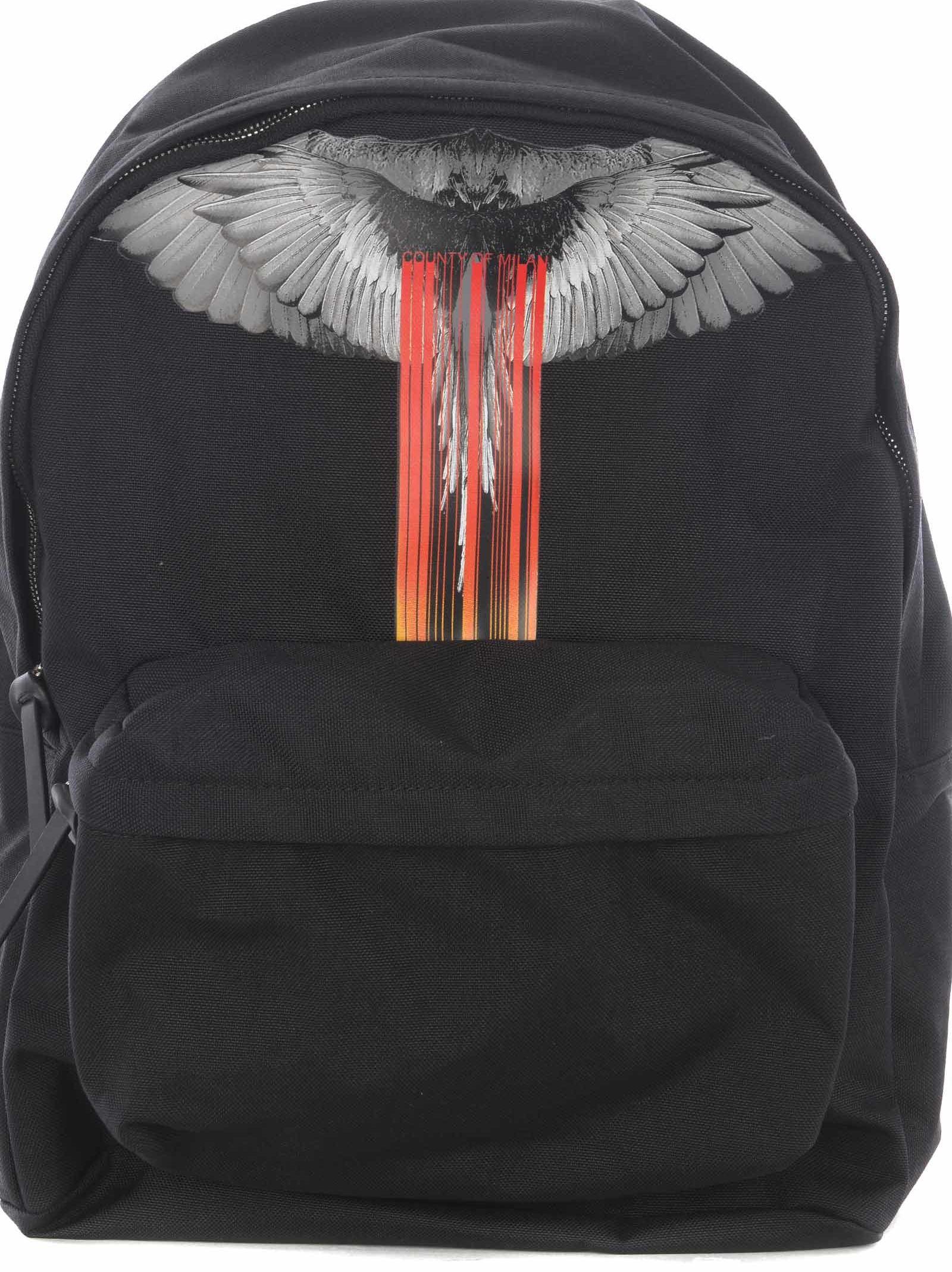 Marcelo Burlon Wings Barcode Print Backpack