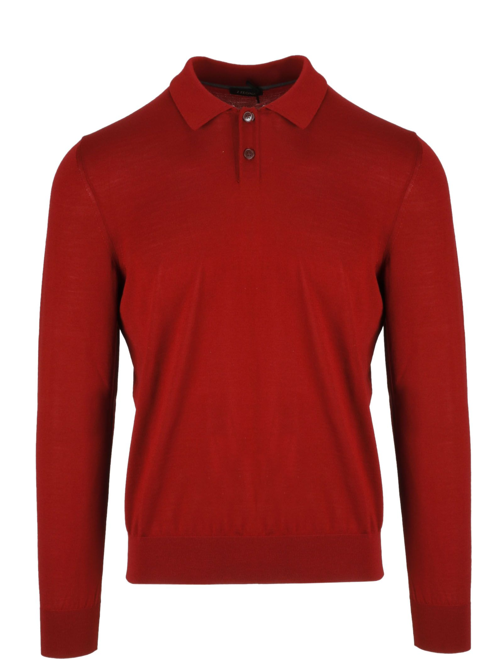 Z Zegna Long Sleeve Fitted Polo Shirt