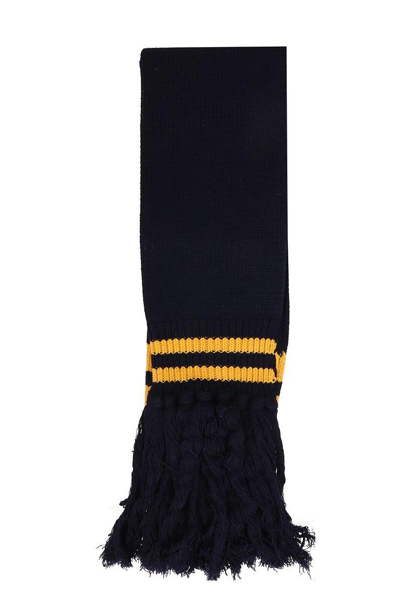 DANILO PAURA Blue Wool Scarf