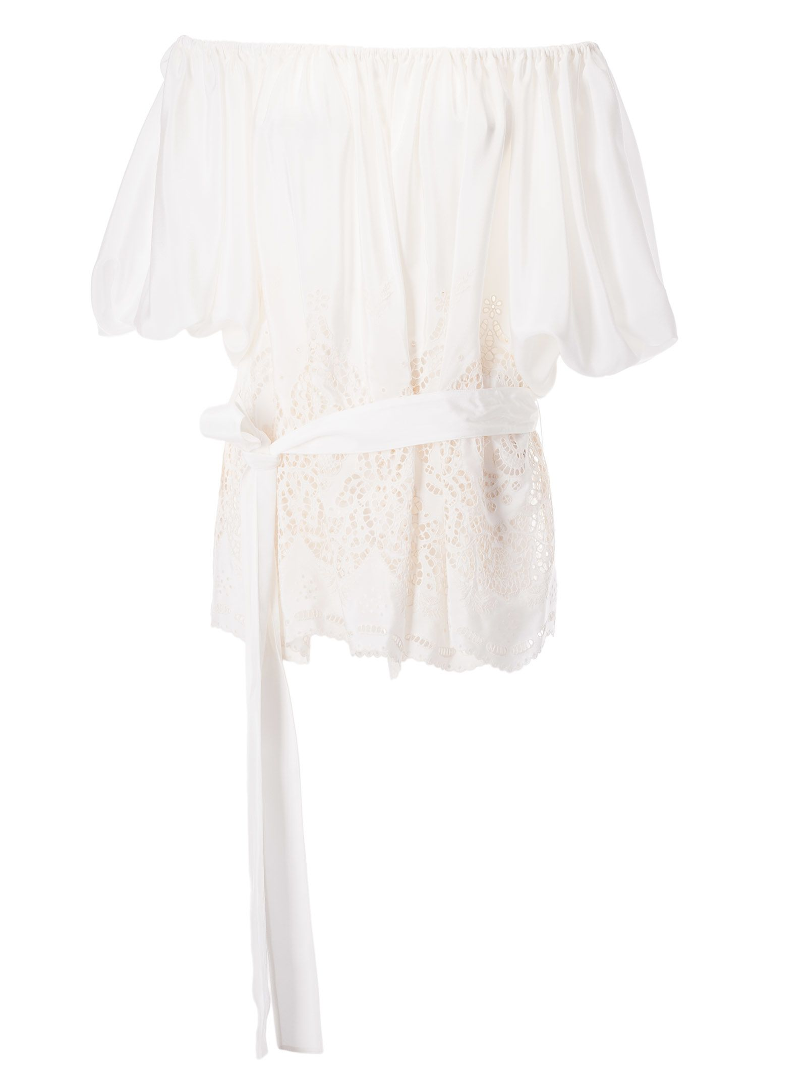 Stella Mccartney Off Shoulder Perforated Blouse