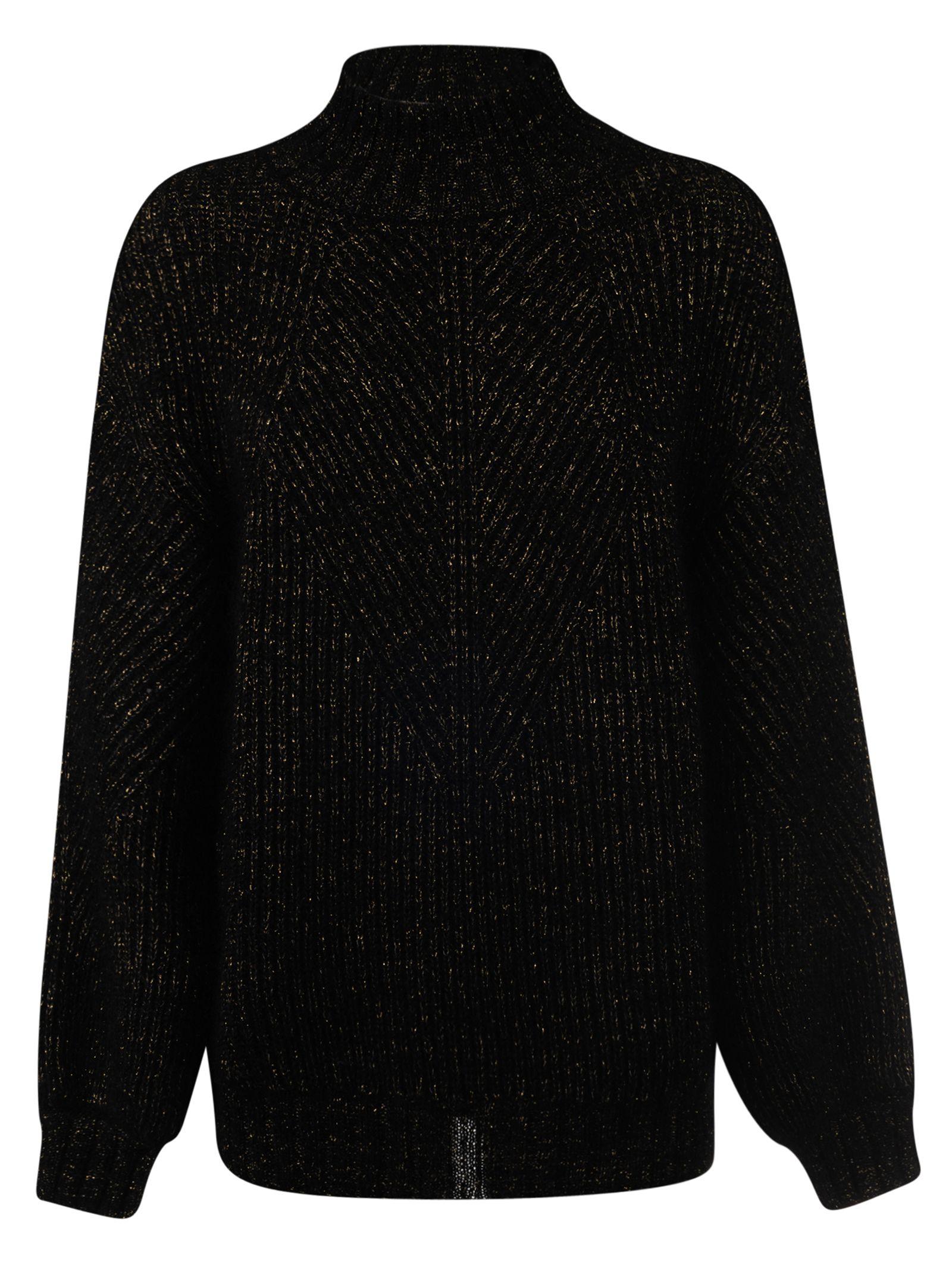 Alberta Ferretti Glittered Ribbed Sweater