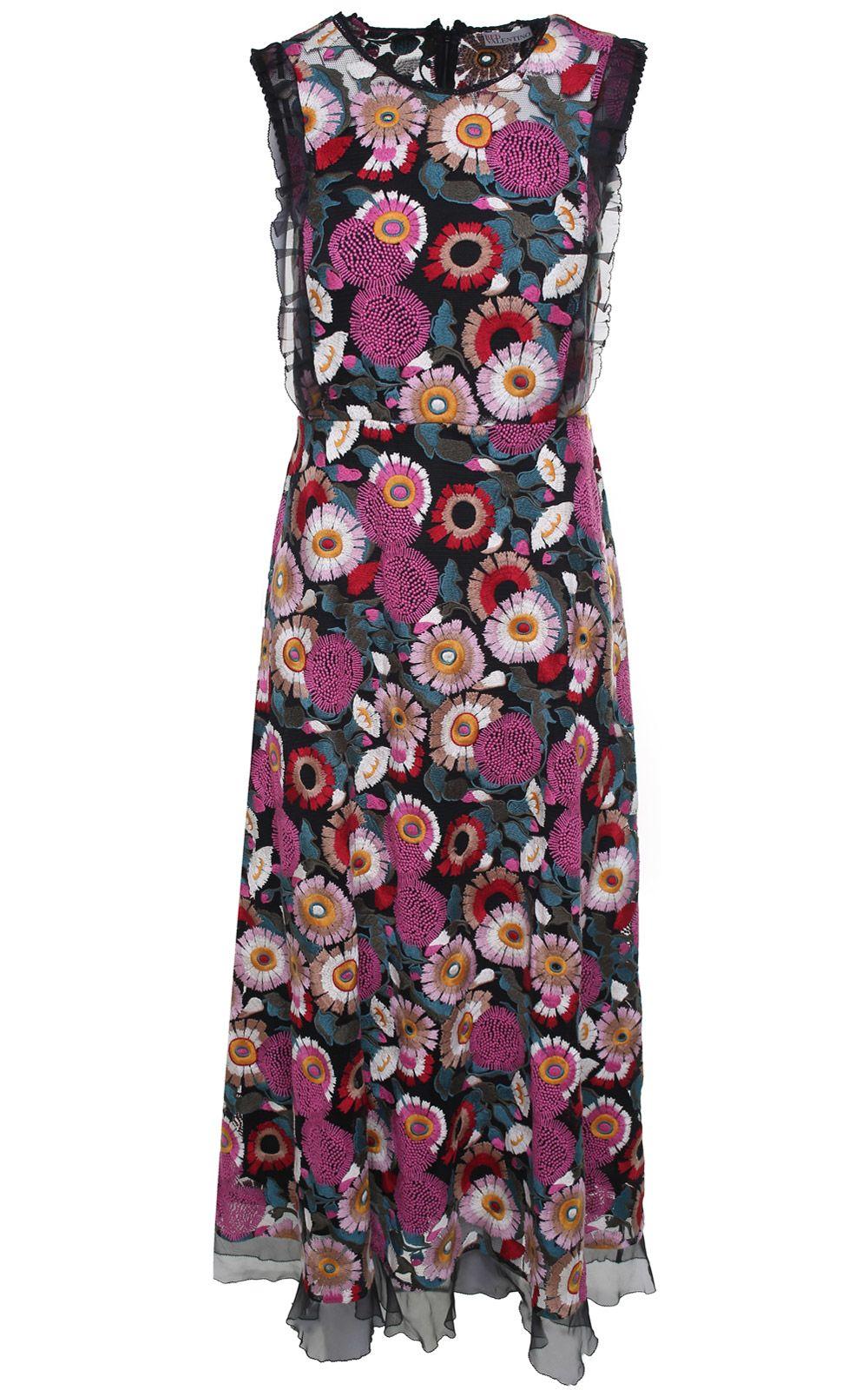 RED Valentino Floral Lace Midi Dress