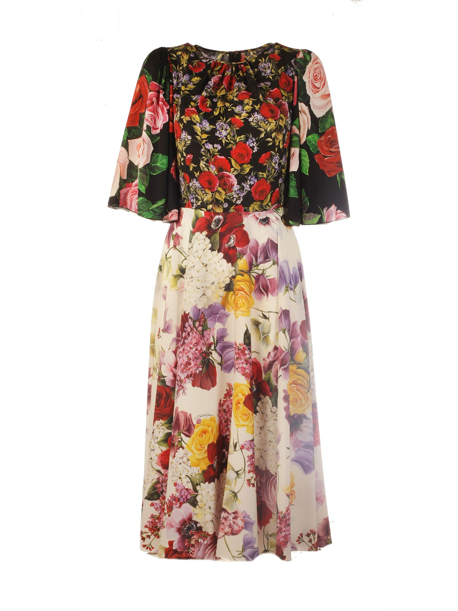 Dolce & Gabbana Pleated Floral Dress