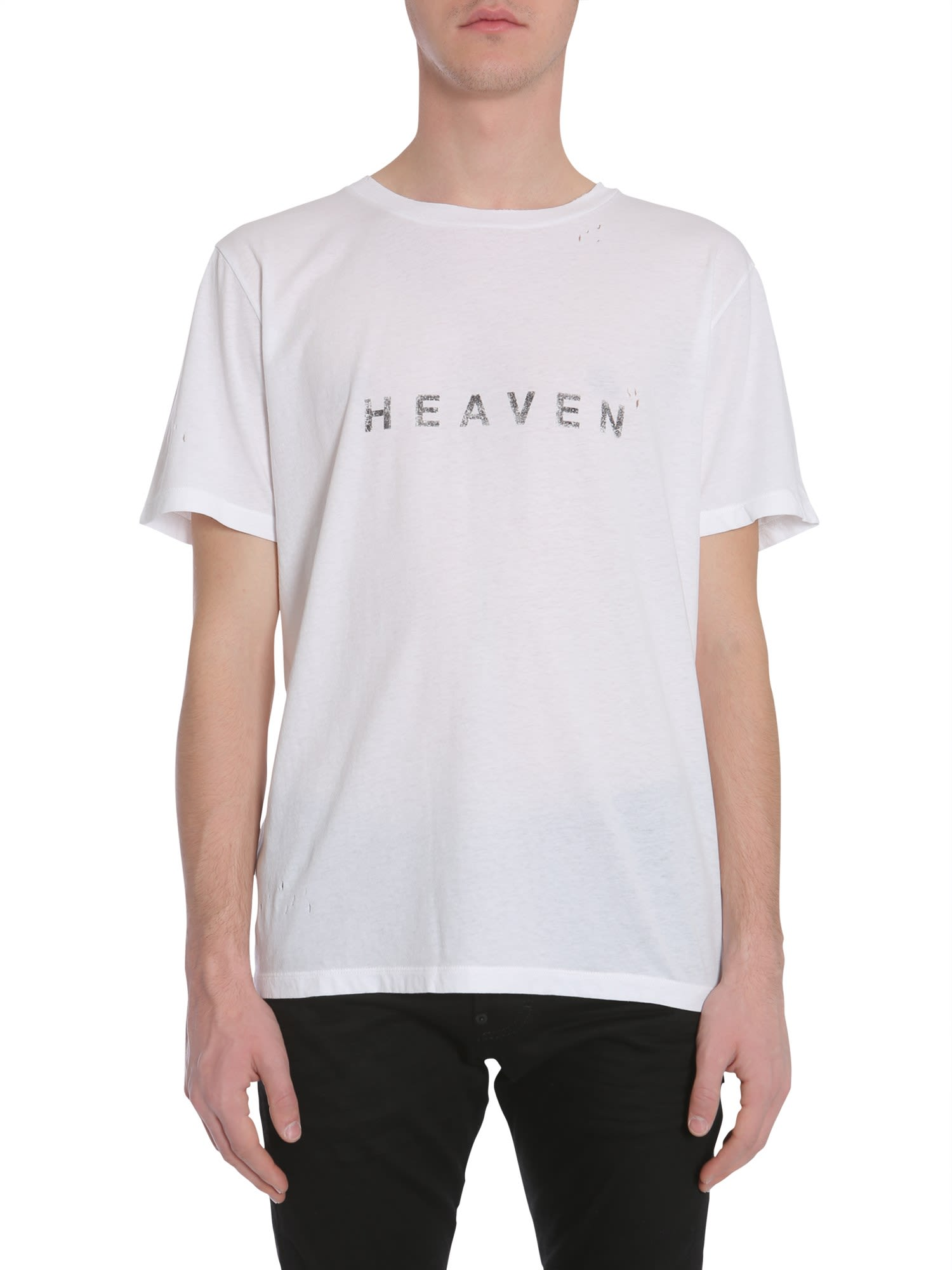Saint Laurent Round Collar T-shirt