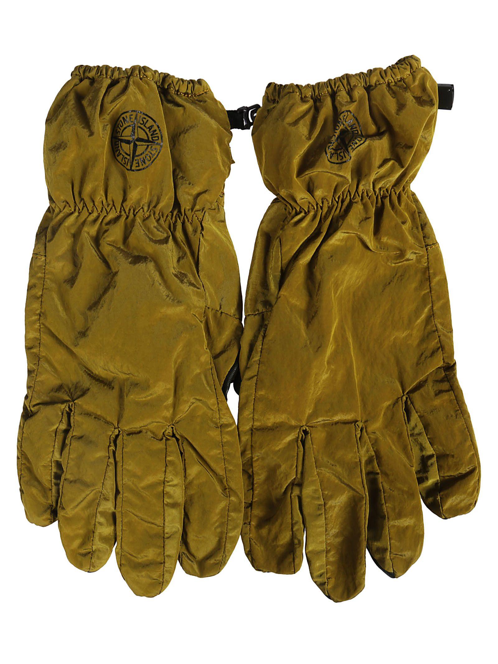 Stone Island Logo Print Gloves