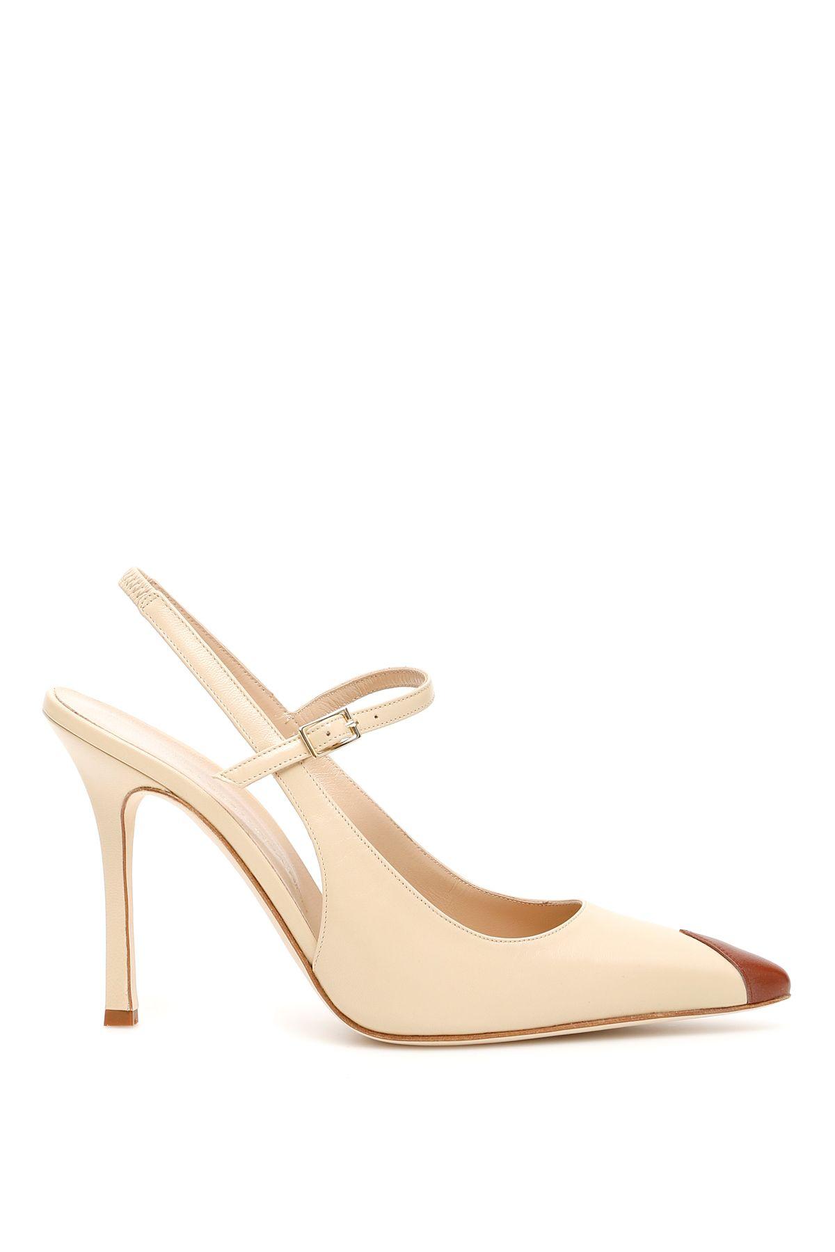 Alessandra Rich Shoes BICOLOR SLINGBACKS